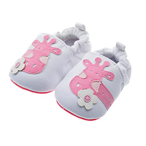 PAMBO Baby Slip-On Shoes for Infants, Newborns and Toddlers-Cute Soft Soled Walking Shoes for Home/Outdoors-Breathable (Size 2, (Little Girl Walking)