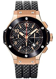 Hublot Big Bang Automatic Black Checker Pattern Dial Black Rubber Mens Watch 341.PB.