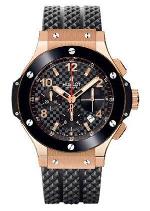 Hublot-Big-Bang-Automatic-Black-Checker-Pattern-Dial-Black-Rubber-Mens-Watch-341PB131RX