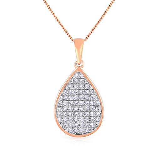 Malabar Gold and Diamonds 18KT Rose Gold and Diamond Pendant for Women
