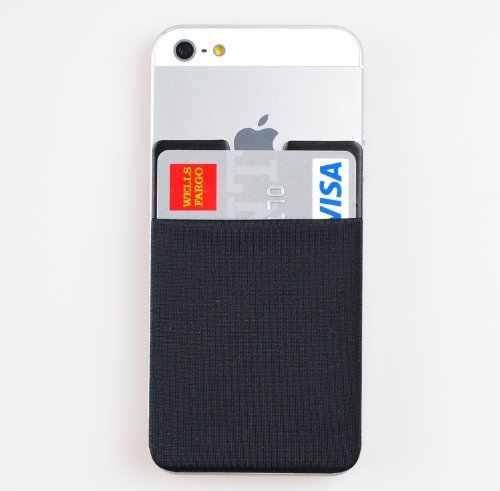 [Black] Smart Muiti Pocket Pouch Brand New 3M Removable Tape Adhesive Card Pocket Case for all iPhone 4S,5S,6,6Plus,iPod Touch, Galaxy S4,S5,Note2,3,4,LG Optimus G,G2,G3, NEXUS 4,5,Xperia Z1,Z2,Z3