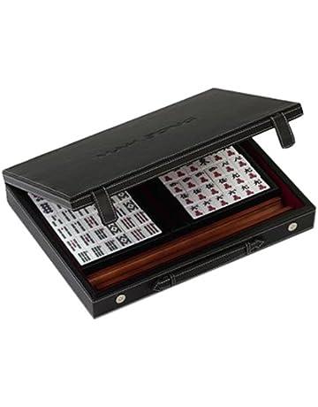 Mini Mahjong pliable Mah Jong portatif pour Voyage Green MJ-022