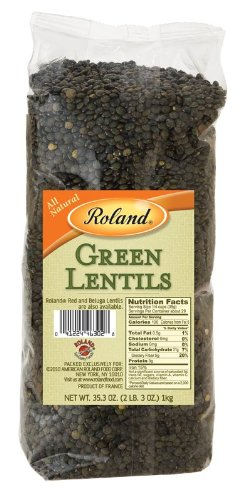 Roland: Green Lentils 35 Oz (10 Pack) by Roland