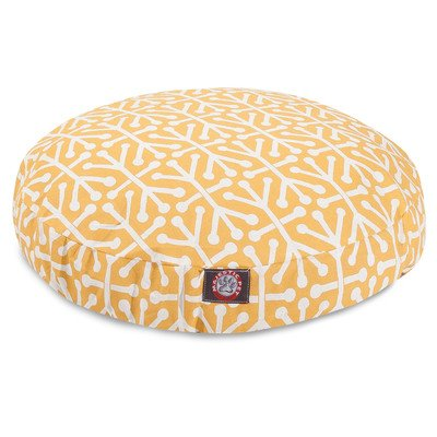 Orange Aruba Large Round Indoor Outdoor Pet Dog Bed With Removable Washable Cover By Majestic Pet Products For Sale