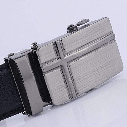 メンズカジュアルベルトビジネスベルト自動バックル付き人工皮革ベルト友人の家族への最高の贈り物1ピースブラック 操作簡単です