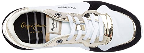 Pepe Jeans London Verona W Mirrow, Zapatillas para Mujer Dorado (Gold)