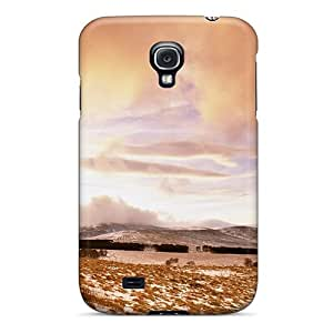 New Arrival Sunset Over Frozen Field For Galaxy S4 Case Cover