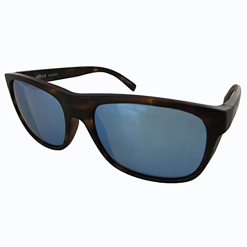 Revo Lukee RE 1020 02 BL Polarized Square Sunglasses, Dark Tortoise/Blue Water, 56 - Polarized Revo