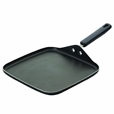 Farberware Cookware Aluminum Nonstick 11-Inch Square Griddle, Gray