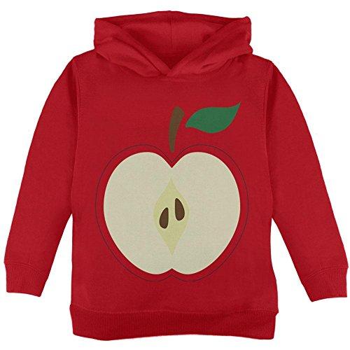 Halloween Apple Slice Costume Toddler Hoodie Red 2T