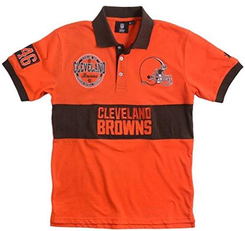NFL Cleveland Browns Men's Cotton Wordmark Rugby Short Sl...