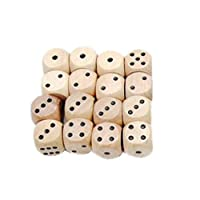 Toyvian 16mm Six-Sided Wooden Dice Sieve Classic Wooden Dice Game Toy 10 Pieces