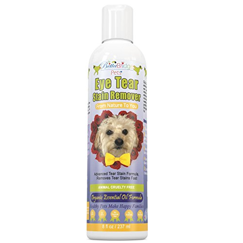 Tear Stain Remover for Dogs and Cats Eye- Removes Tough Tear Stains Gently & Fast-Natural Formula for white dogs Shih Tzu, Poodle, Maltese and Chihuahua-Angel Eyes