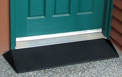 Rubber Threshold ramp, Made In USA. 2-Pack of 1-1/2''H. Ideal for indoor, outdoor use, or especially good for sliding glass doors.