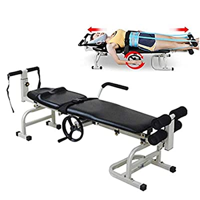 Eapmic Massage Traction Bed, Therapy Massage Bed Table Cervical Spine Lumbar Traction Bed Body Stretching Device for Lumbar Spine Cervical Discomfort Lumbar Disc Herniation
