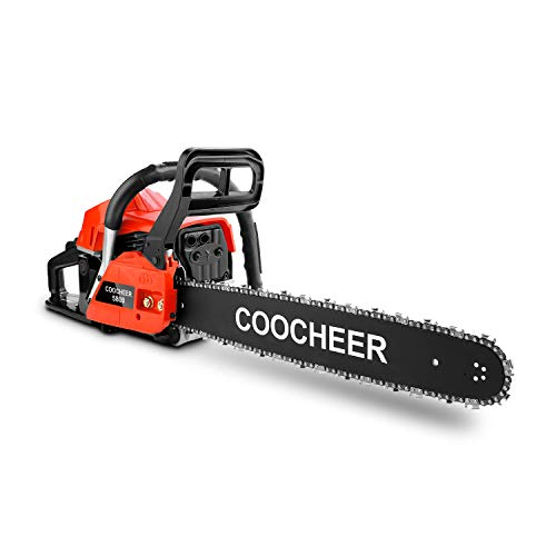 OppsDecor CS5900 58cc Gas Powered Chainsaw 20 Inch 2 Cycle Rancher Gas Chain Saw for Cutting Wood with Tool Kit (US Stock)