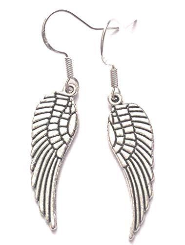 Angel Wings Charm Drop Dangle Earrings