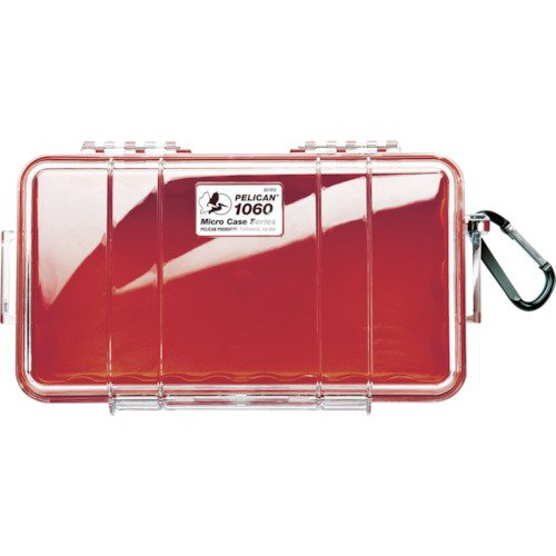 Waterproof Case | Pelican 1060 Micro Case - for iPhone, Cell Phone, GoPro, Camera, and More (Red/Clear) (Red Micro Case)