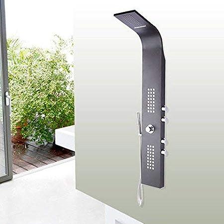 Ducha termostato Led termostato Negro Pintura en Aerosol Mampara de Ducha Ducha de Acero Inoxidable Juego de Ducha Ducha multifunción Cuerpo de baño Ducha de baño Grifo Mezclador: Amazon.es: Hogar