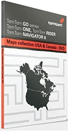 Tomtom Maps Of Usa Canada Multiplatform Dvd Use With Any Tomtom Gps