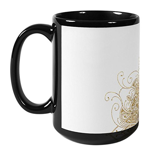 KAVKA DESIGNS All in Gold Coffee Mug 5 x 5 x 5