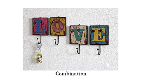 Decoración Up la Inicio Cafe ropa Hook Creative Retro Beauqueen tienda pared letra 26 de la de de Decoración Inglés O8wxqfXPn
