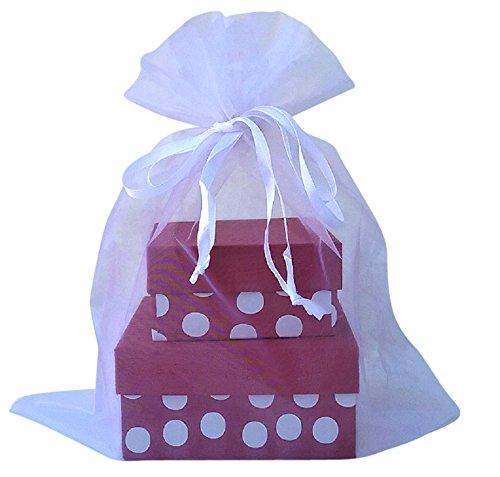 Amazon.com: X- Large Organza Bags 5 Black 12