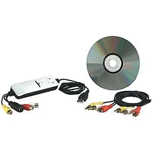 Manhattan 161336 - Capturadora de vídeo (USB, RCA), blanco y negro