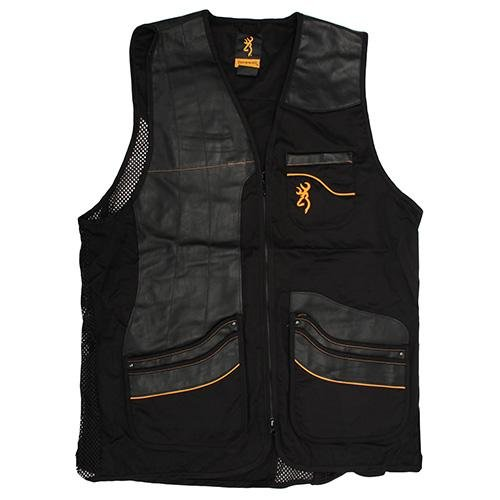 Browning Master-Lite Leather Patch Vest, Large by Browning