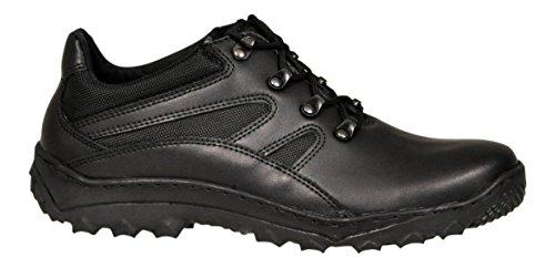 Lukpol Herren Naturlede Trekking Wandern Draussen Schuhe Modell-932-SE Schwarz