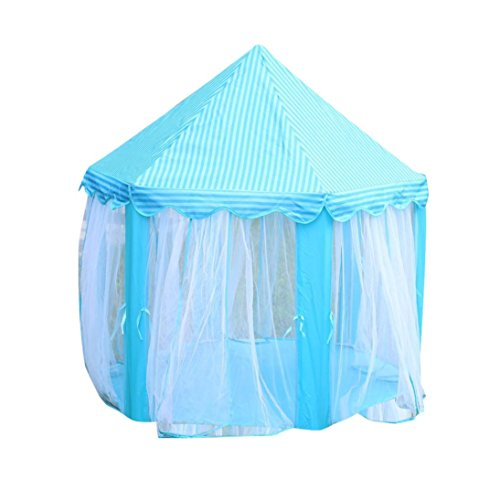 - Start Princess Castle Kids Play Tent Room Children Playhouse -Indoor and Outdoor Use (Blue)