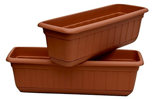 Premium High-Density Plastic Planter & Flower Window Box Gina 18