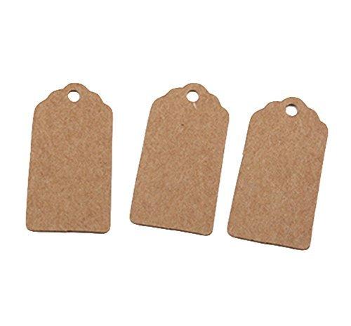 Danapp 2*4/cm Kraft Paper Bookmarks piccola etichetta abbigliamento tag fai da te dipinti a mano di etichette regalo 100/pz
