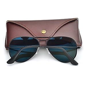 bc844d0cc0 Bnus corning natural glass lenses aviator polarized sunglasses for men  women italy made