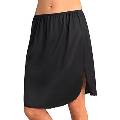 Vassarette Women's Tailored Anti-Static Half Slip 11122, Black Sable-28 Inch, Medium