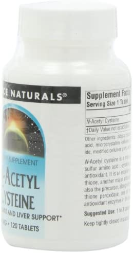 Source Naturals N-Acetyl Cysteine 600mg Powerful Antioxidant Pure Enzymes – 30 Tablets Pack of 2