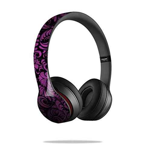 Mightyskins Protective Vinyl Skin Decal Cover for Dr. Dre Beats Solo2 Headphones wrap sticker skins Purple Style