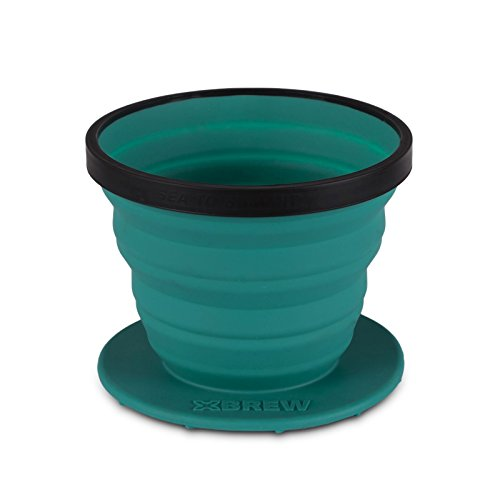 Sea to Summit X-Brew Coffee Dripper - Collapsible Pour Over Coffee Filter - Dishwasher Safe, Pacific Blue