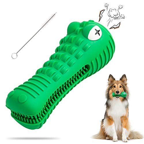 Dog Toys for Aggressive Chewers Large Medium Breed Dog Chew Toys Dog Toothbrush Indestructible Squeaky Interactive Tough…