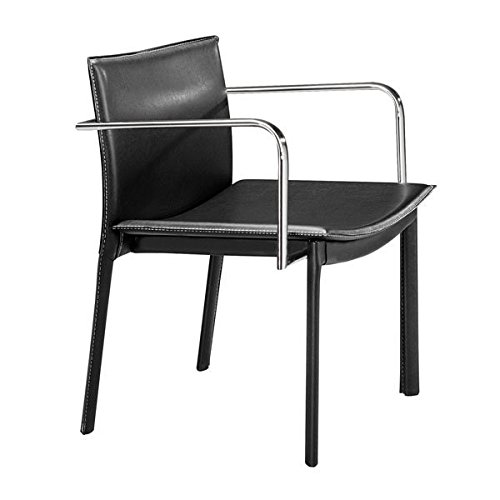 Zuo Dining Chairs Set, Black Gekko Eclectic Design Modern Conference Chairs, Set of ()