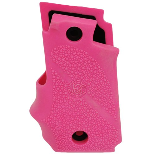 Hogue Sig P238 Grips Rubber w/Finger Grooves, Desert Pink