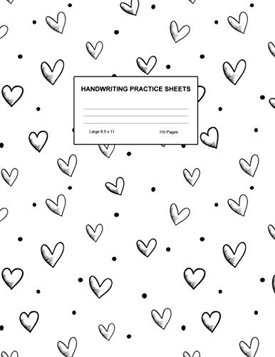 Handwriting Practice Sheets: Cute Blank Lined Paper Notebook for Writing Exercise and Cursive Worksheets - Perfect Workbook for Preschool, ... 3rd and 4th Grade Kids - Product Code A4 5150