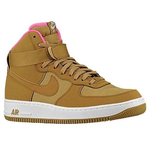 nike air force 1 high 07 mens hi top trainers 315121 sneakers shoes (uk 6.5 us 7.5 eu 40.5, golden tan pink power sail 204)