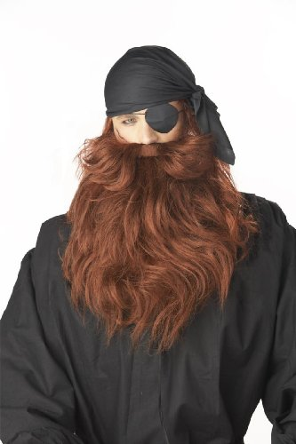 Pirate Beard & Moustache Costume (Red Pirate Beard And Moustache)