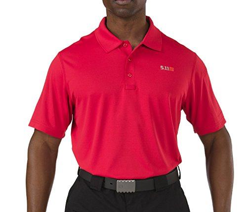 5.11 Men's Pinnacle Polo Short Sleeve Shirt, Range Red, X-Large