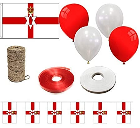 Curling Ribbon Argentina INERRA Flag Event Pack 10ft Bunting and String Mixed Balloons Includes Large Flag