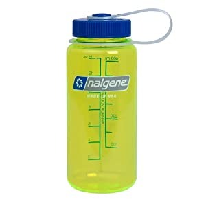 nalgene wide mouth water bottle safety yellow 1 pint sports outdoors. Black Bedroom Furniture Sets. Home Design Ideas