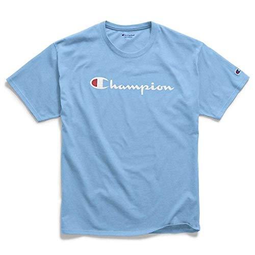 (Champion Men's Classic Jersey Graphic T-Shirt, Swiss Blue, X-Large)