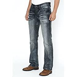 Slim Bootcut Unripped Men's Jeans - 32W x 32L - Helix