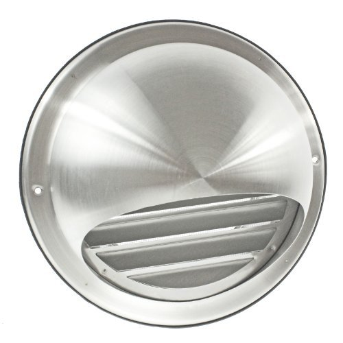 (First4Spares Stainless Steel Round Bull Nosed External Extractor Wall Vent Outlet With Insect Mesh Grille 150Mm 6